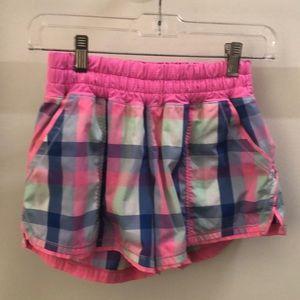 lululemon athletica Shorts - Lululemon multi color plaid short sz 4 68843